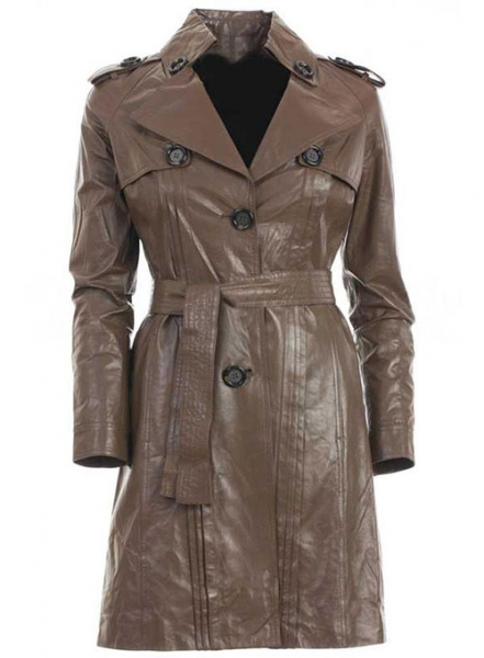 Leather Long Coat #203
