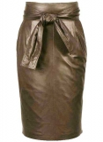 Bonded Leather Skirt - # 436