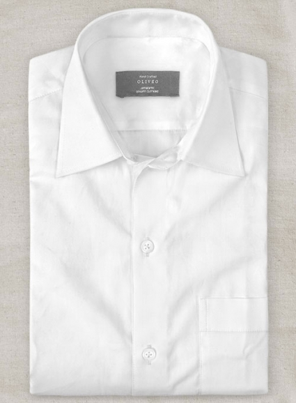 Italian Cotton White Shirt - Full Sleeves
