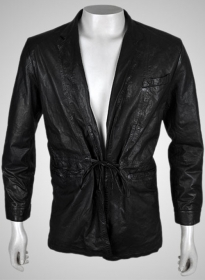 Leather Robe Couture Jacket