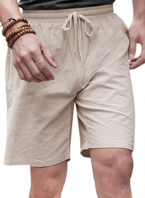 Pure Linen Drawstring Shorts