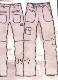 Leather Cargo Jeans - Style 35-7