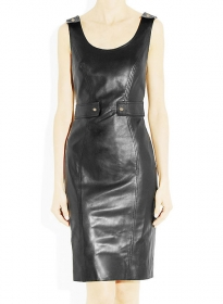 Panelled Leather Dress - # 758