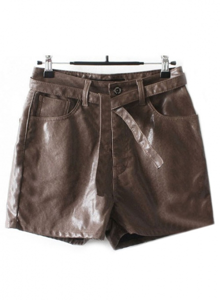 Leather Cargo Shorts Style # 352