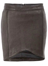 Pique Twist Leather Skirt - # 174