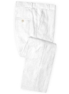 Pure White Linen Pants