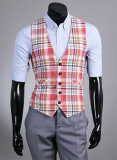 Plaid Waist Coat