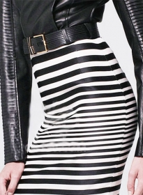 Zebra Leather Skirt - # 192