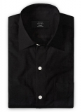 Pure Black Linen Shirt - Full Sleeves