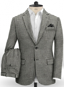 Big Houndstooth Bw Tweed Suit Makeyourownjeans 174 Made To