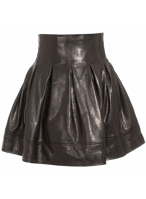 Petal Leather Skirt - # 124 - 50 Colors
