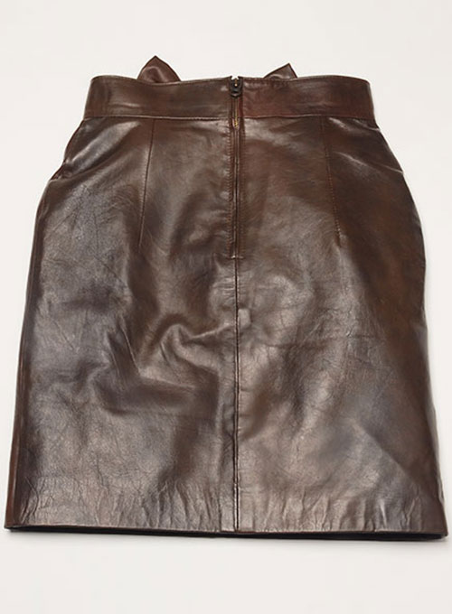 Bow Babe Leather Skirt - Click Image to Close
