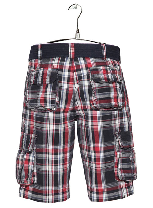 Madras Plaid - Light Weight Cargo Shorts # 552
