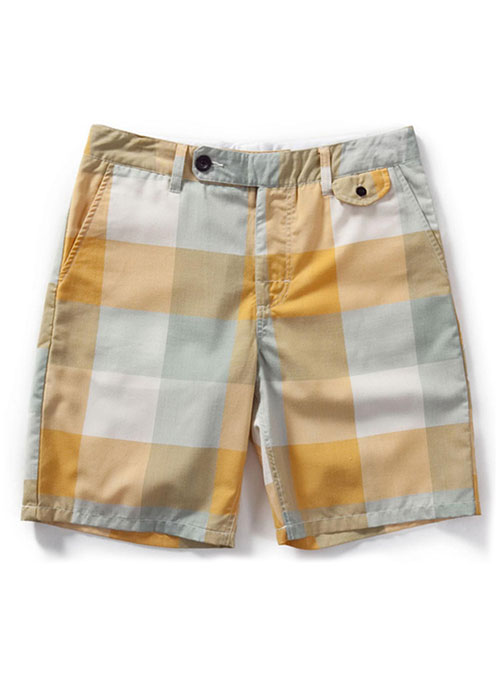 Madras Plaid - Light Weight Cargo Shorts # 555