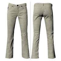 Beige Cotton Stretch Jeans