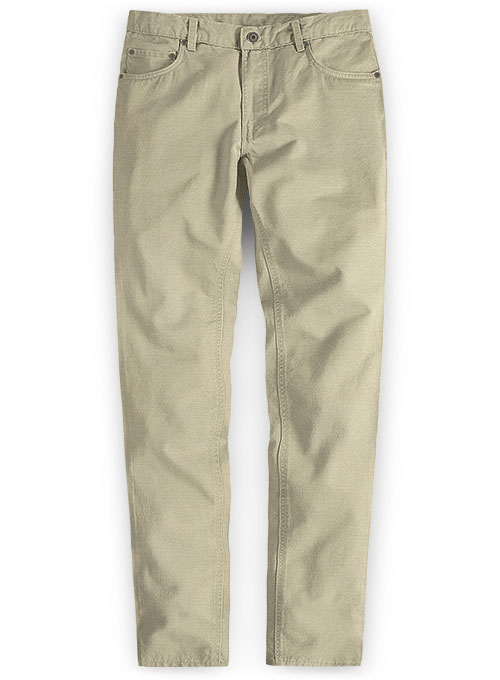 Beige Peach Finish Chino Jeans