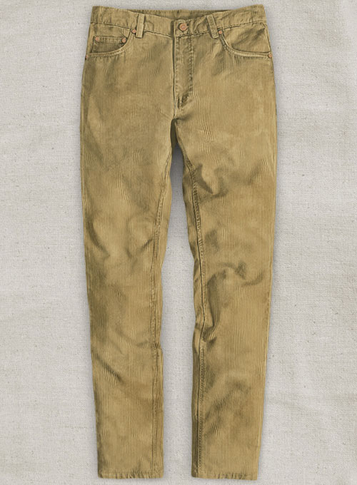 Beige Thick Corduroy Jeans - 8 Wales