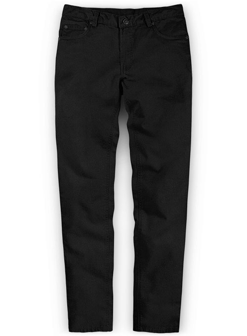Black Peach Finish Chino Jeans