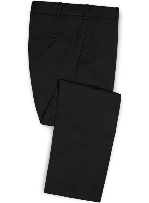 Black Peach Finish Chino Pants