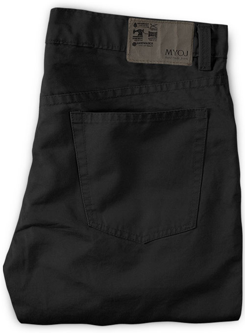 Black Stretch Chino Jeans - Click Image to Close