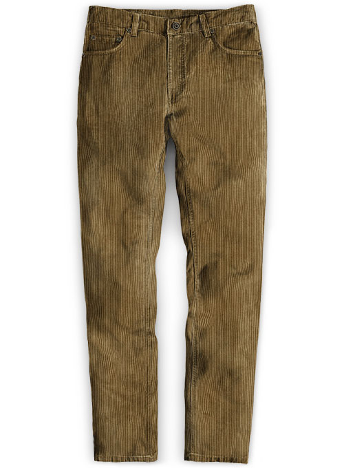 Brown Thick Corduroy Jeans - 8 Wales