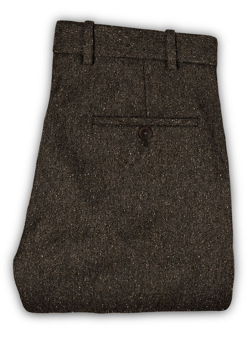 Brown Flecks Donegal Tweed Pants - Click Image to Close