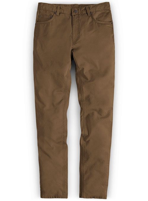 Brown Stretch Chino Jeans