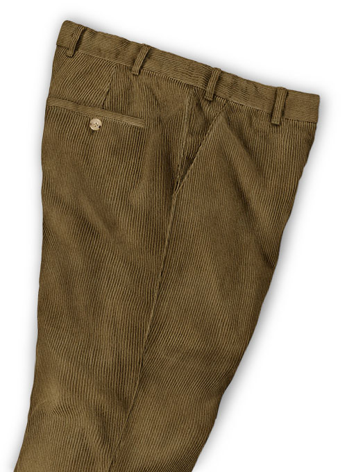 Brown Thick Corduroy Trousers - 8 Wales