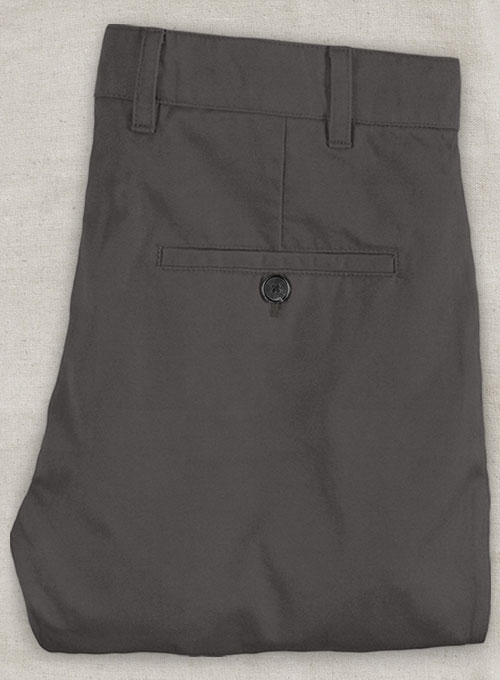 Charcoal Gray Stretch Chino Pants - Click Image to Close