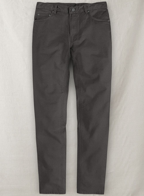 Charcoal Gray Stretch Chino Jeans