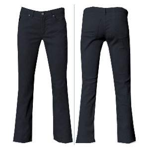 Black Cotton Stretch Jeans