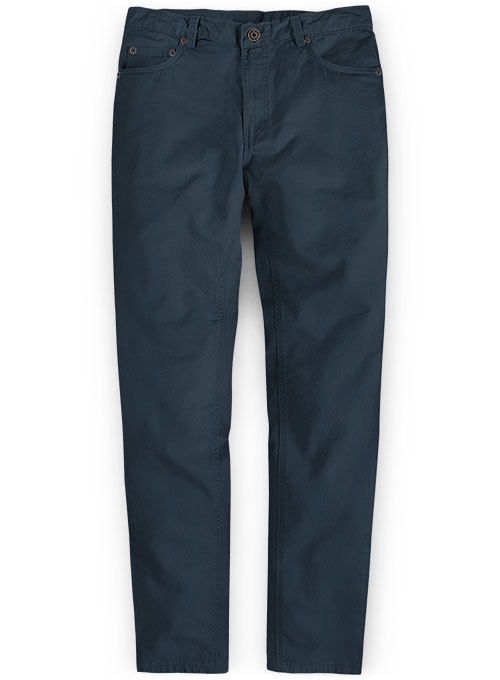 Dark Blue Stretch Chino Jeans