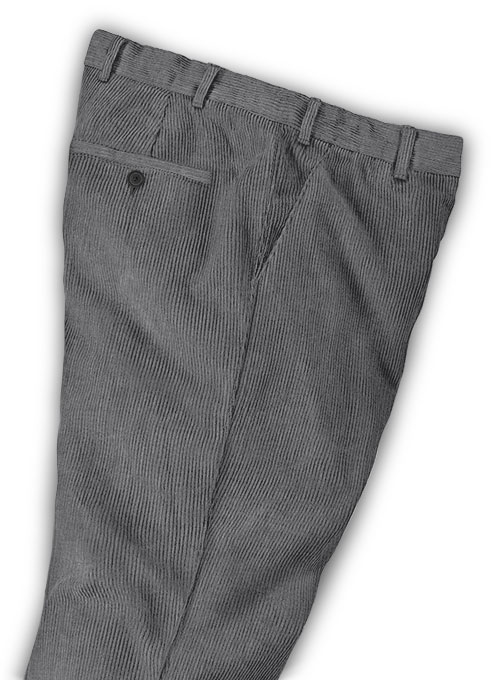 Dark Gray Thick Corduroy Trousers - 8 Wales