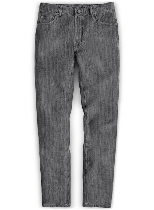Dark Gray Thick Corduroy Jeans - 8 Wales