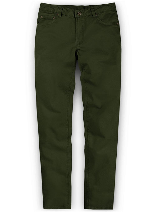 Dark Olive Green Chino Jeans Makeyourownjeans 174 Made To
