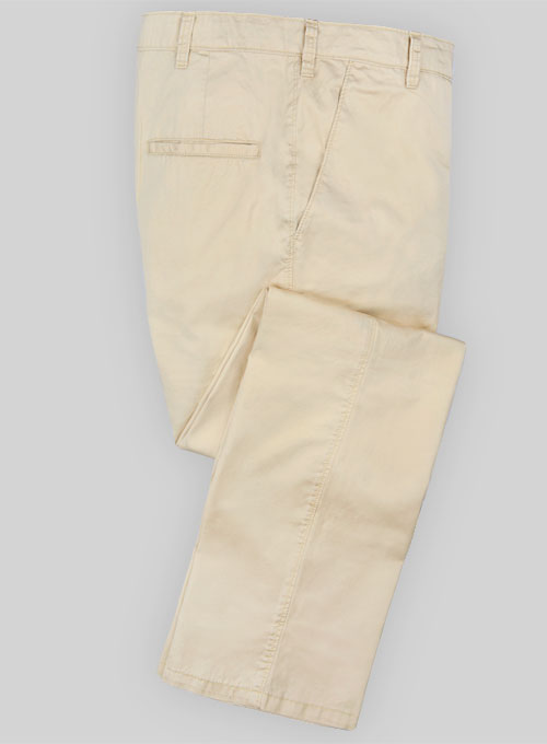 Light Beige Fine Twill Pants