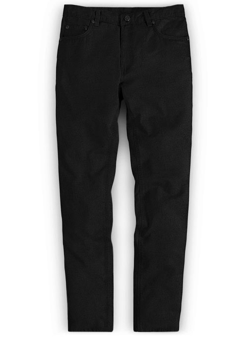 Heavy Black Chino Jeans