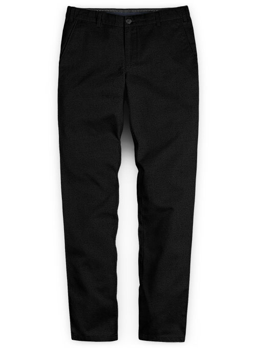 Heavy Black Chinos