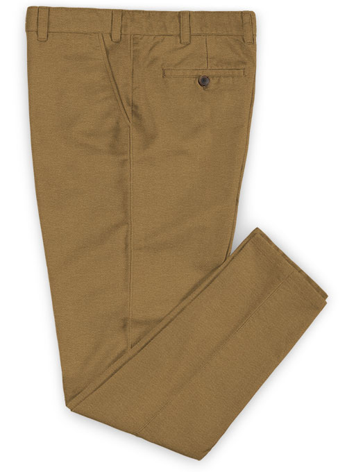Heavy Dark Khaki Chinos - Click Image to Close