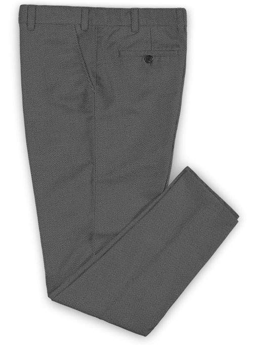 Heavy Gray Chinos - Click Image to Close