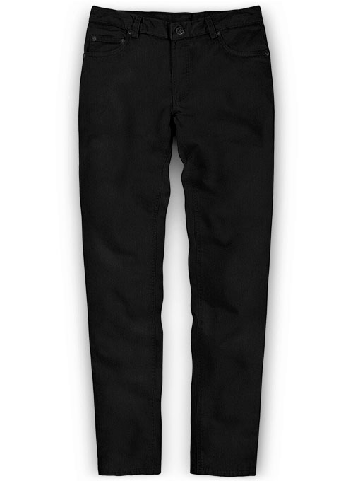 Heavy Knit Black Stretch Chino Jeans