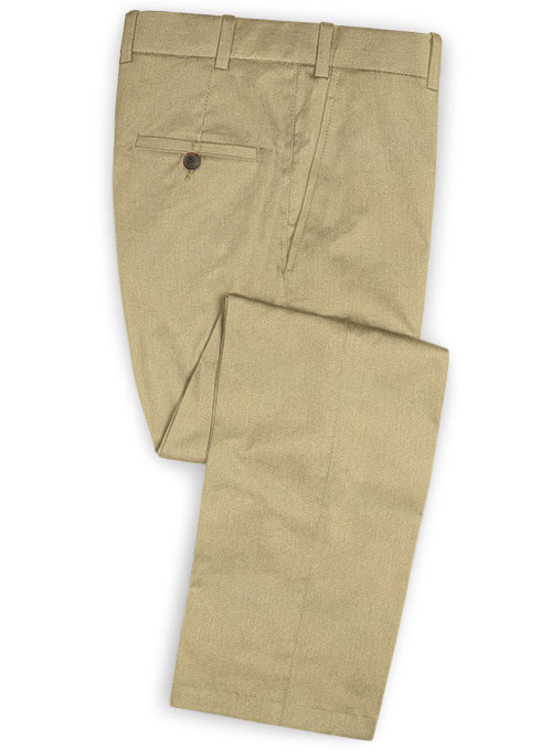 Heavy Knit Light Khaki Stretch Chino Pants