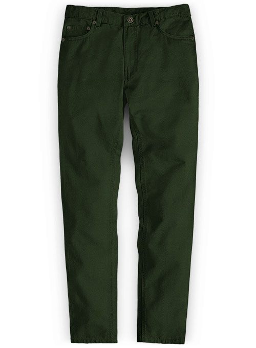 Heavy Olive Chino Jeans