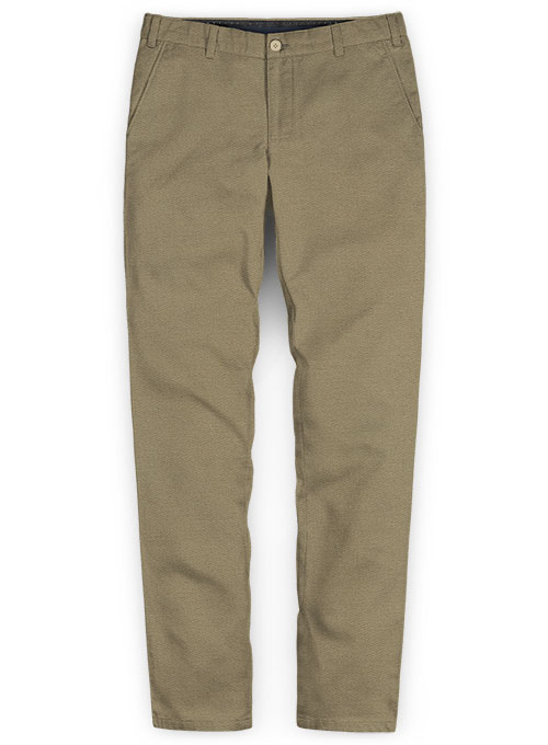 Hunter Khaki Peach Finish Chinos