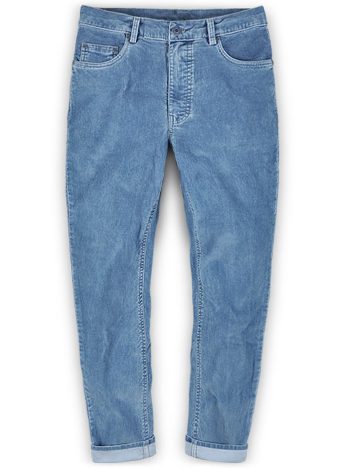 Indigo Corduroy Stretch Jeans - Light Blue