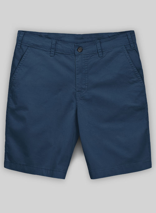 Ink Blue Stretch Summer Weight Chino Shorts