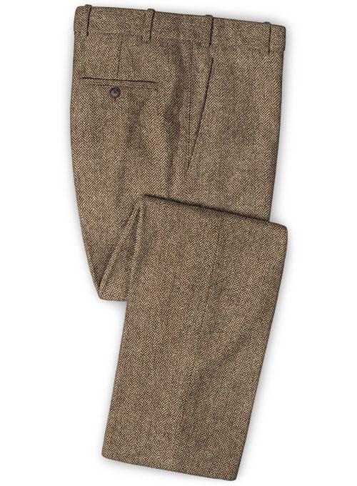 Irish Brown Herringbone Tweed Pants Makeyourownjeans