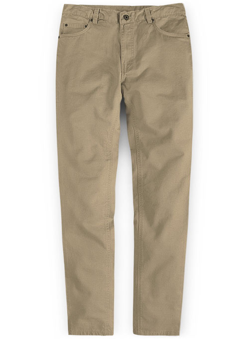 Khaki Chino Jeans With Fit Guarantee