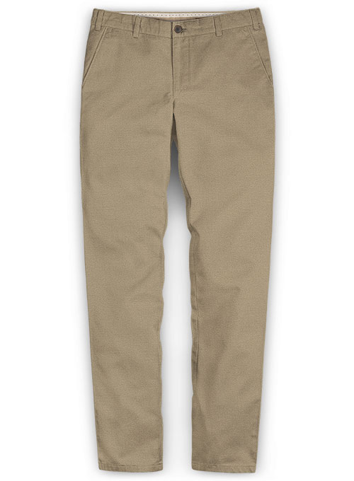 Khaki Chinos With Fit Guarantee Washed