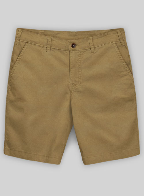 Khaki Summer Weight Chino Shorts